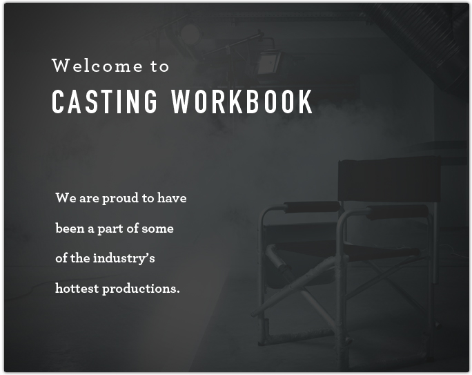 Welcome To Casting Workbook